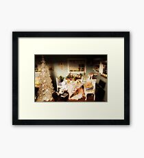 dollhouse christmas Framed Print