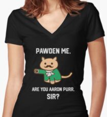 The Hamilton Cat Women's Fitted V-Neck T-Shirt