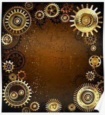 Machinery Concept ( Steampunk Background ) Poster