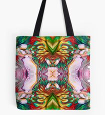 autumn feathers mirrored. Tote Bag