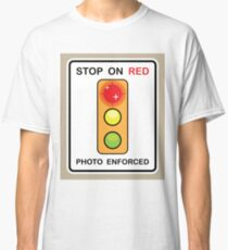 Stop on Red sign Classic T-Shirt