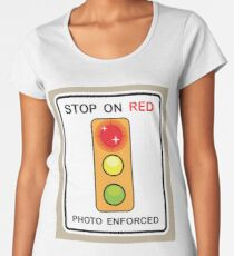 Stop on Red sign Women's Premium T-Shirt