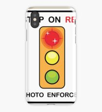 Stop on Red sign iPhone Case