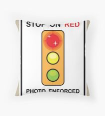 Stop on Red sign Throw Pillow