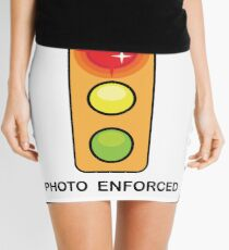 Stop on Red sign Mini Skirt