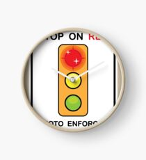 Stop on Red sign Clock