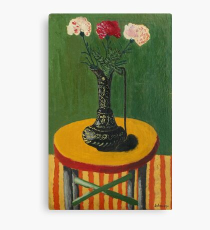 Still life with vase and flowers Canvas Print
