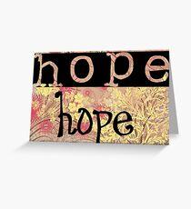 Tarjeta de felicitación Message of hope 2