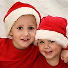 Santa brothers by Julie B