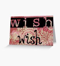 Tarjeta de felicitación Make a wish