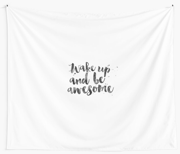 Wake up and be awesomeinspirational quotemotivational printbedroom decor