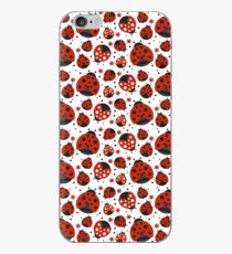 Ladybugs and Red Flowers iPhone Case