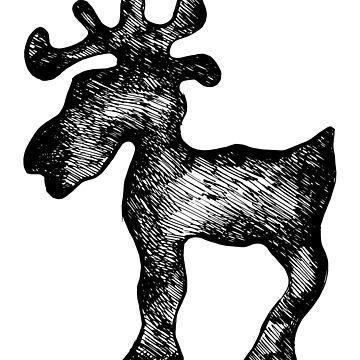 Moose sketch by rafo