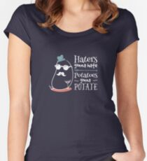 Haters gonna hate, potatoes gonna potate - on dark Women's Fitted Scoop T-Shirt