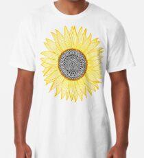 Golden Mandala Sunflower Long T-Shirt