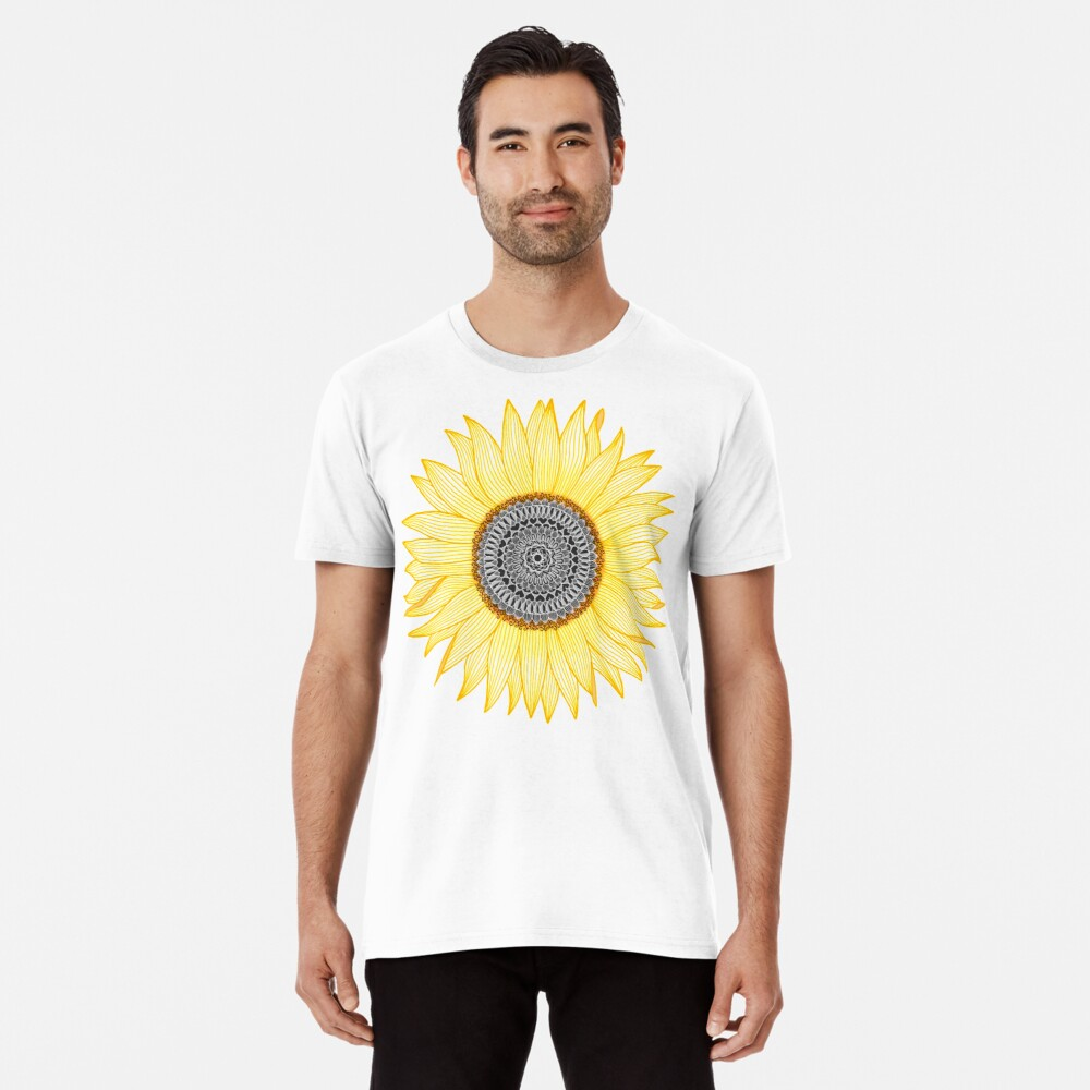 Golden Mandala Sunflower Premium T-Shirt