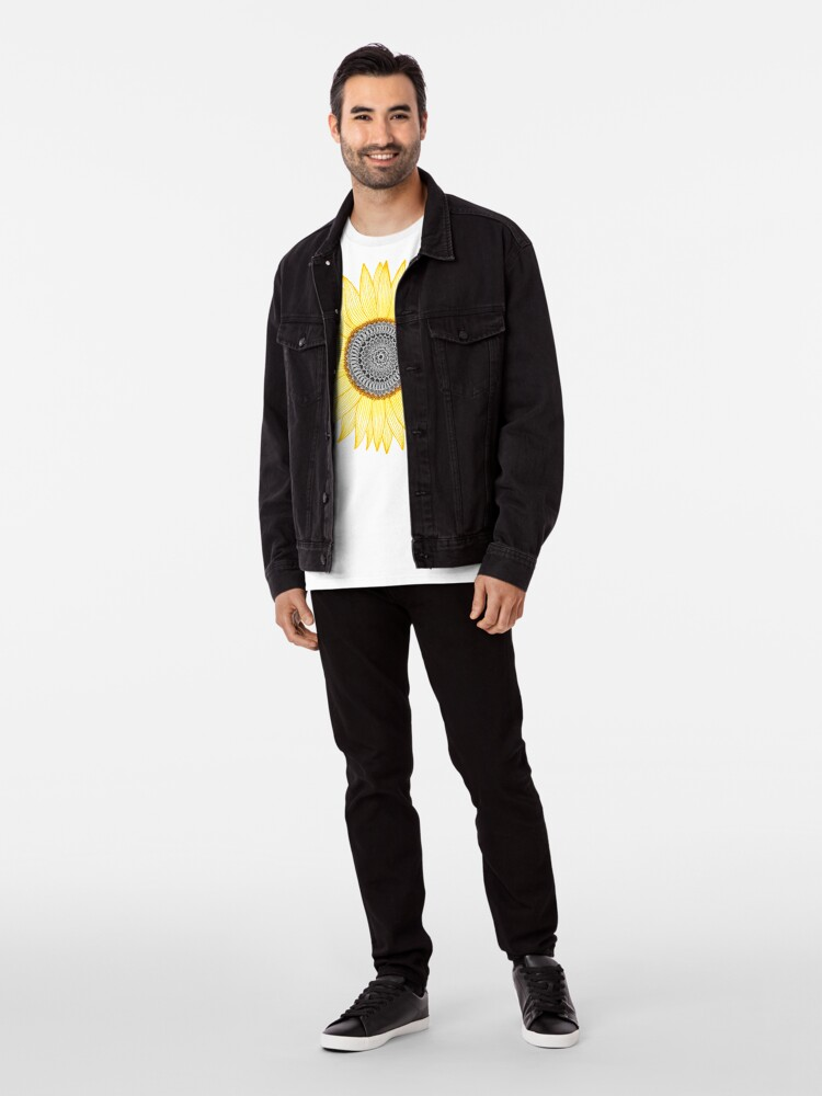 Alternate view of Golden Mandala Sunflower Premium T-Shirt