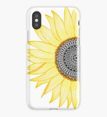 Golden Mandala Sunflower iPhone Case
