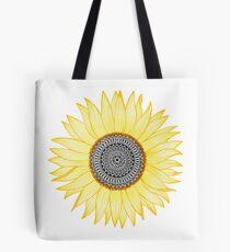 Golden Mandala Sunflower Tote Bag