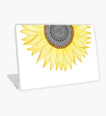 Goldene Mandala-Sonnenblume Laptop Folie