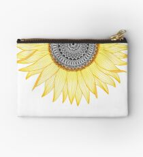 Golden Mandala Sunflower Studio Pouch