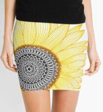 Goldene Mandala-Sonnenblume Minirock