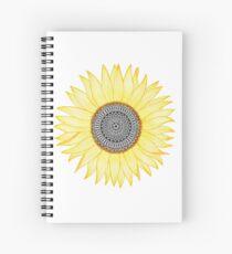 Golden Mandala Sunflower Spiral Notebook