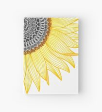Golden Mandala Sunflower Hardcover Journal