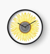 Goldene Mandala-Sonnenblume Uhr