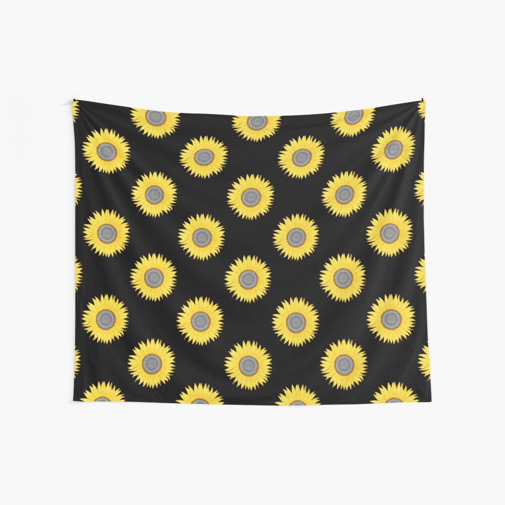 Mandala Sunflower Wall Tapestry