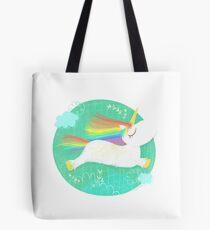Leaping Unicorn Tote Bag