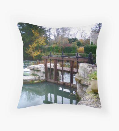 Weir at Verteuil Throw Pillow