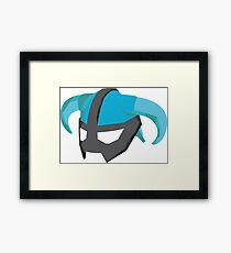 Skyrim Dragonborn Helmet Framed Print