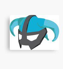Skyrim Dragonborn Helmet Canvas Print
