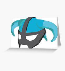 Skyrim Dragonborn Helmet Greeting Card