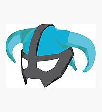 Skyrim Dragonborn Helmet Photographic Print