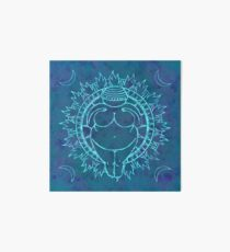 Venus of Willendorf Blue Mandala Art Board