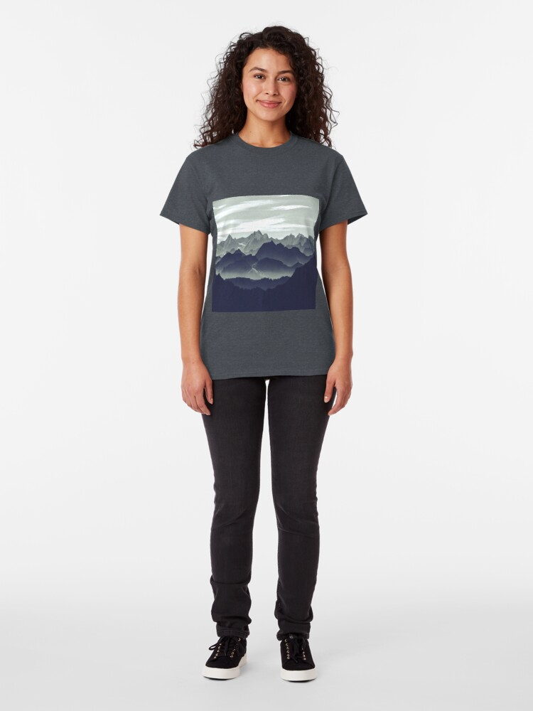 Alternate view of Mountains are calling for us Classic T-Shirt