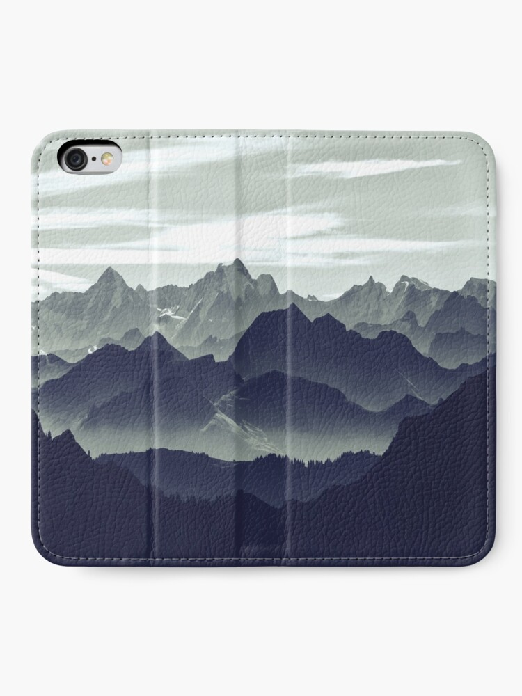 Alternate view of Mountains are calling for us iPhone Wallet