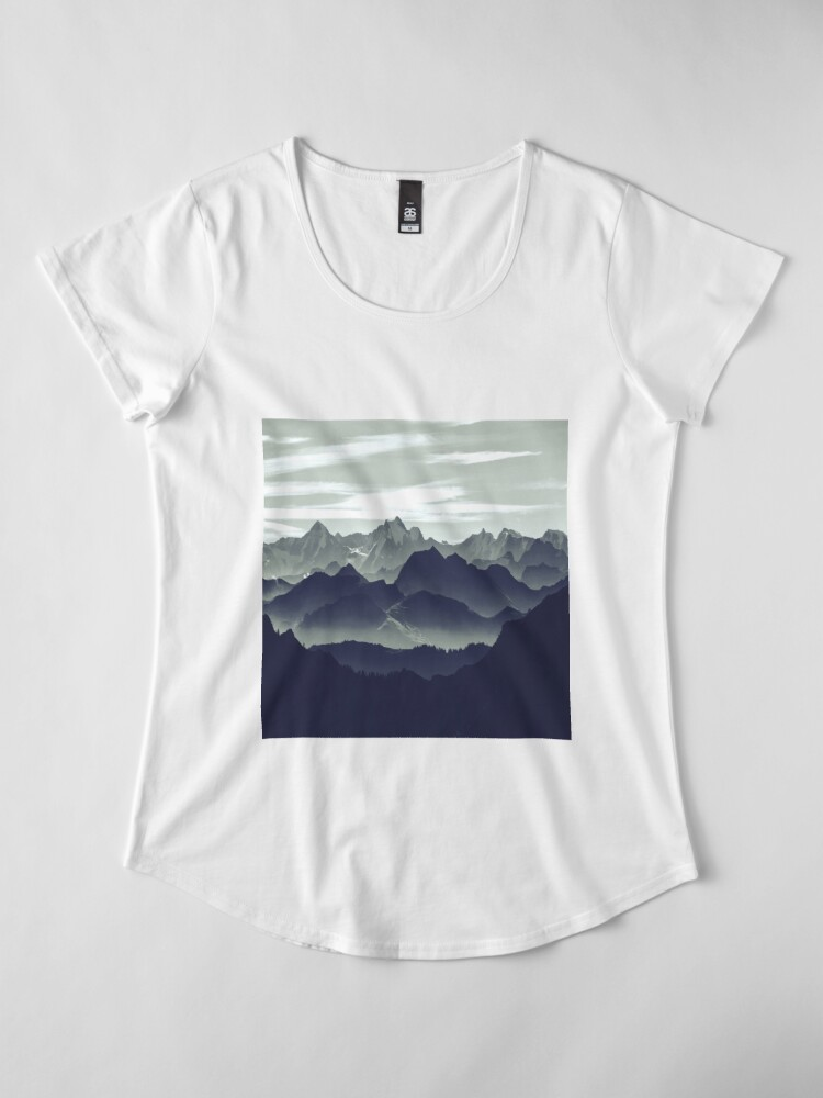 Alternate view of Mountains are calling for us Premium Scoop T-Shirt