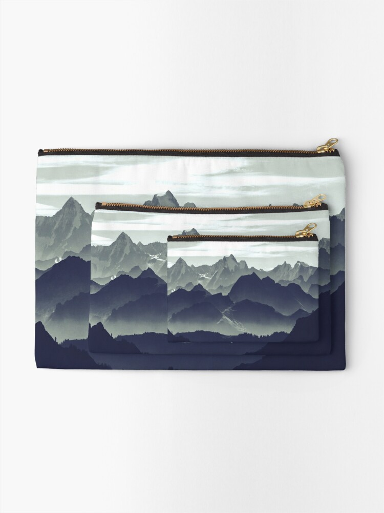 Alternate view of Mountains are calling for us Zipper Pouch