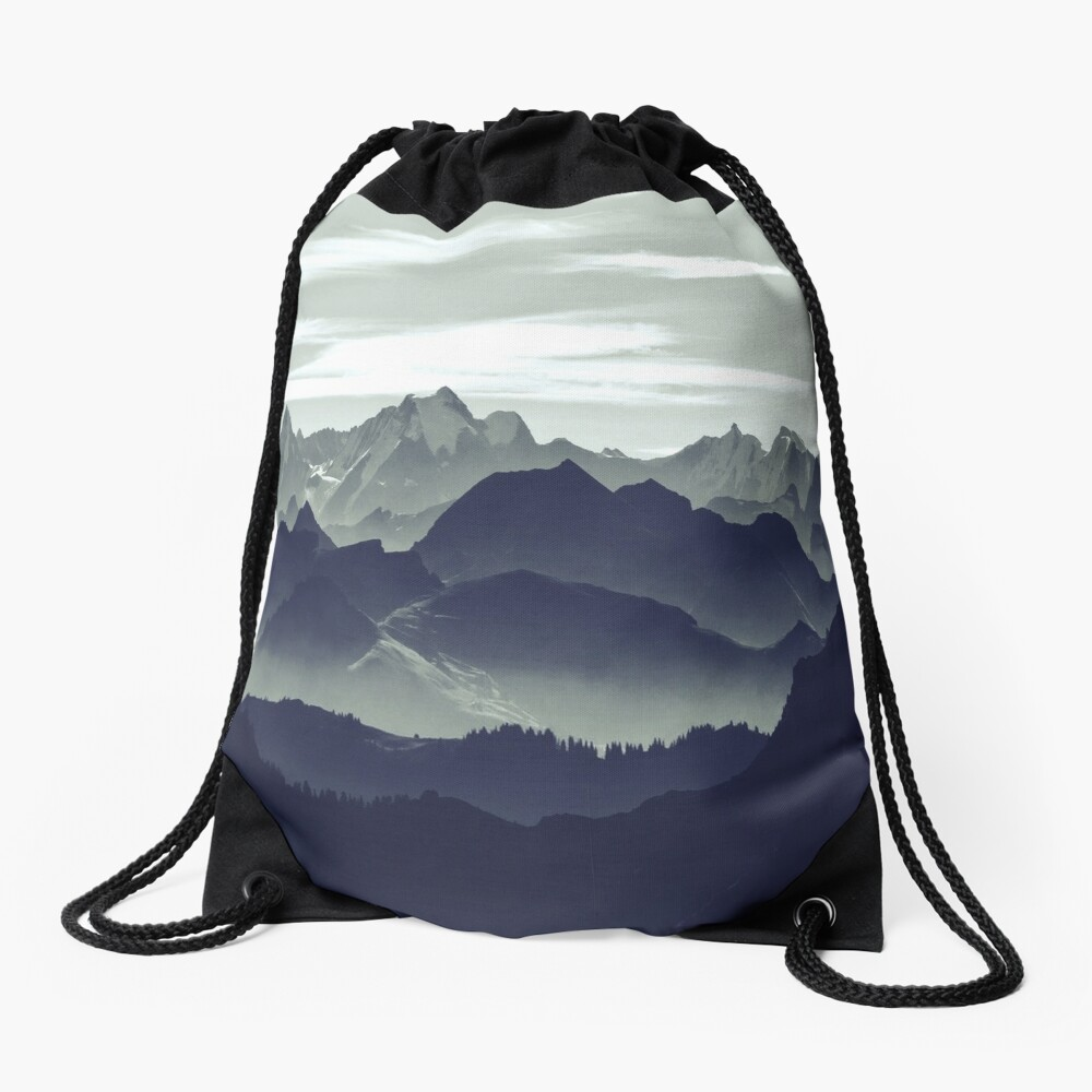 Mountains are calling for us Drawstring Bag