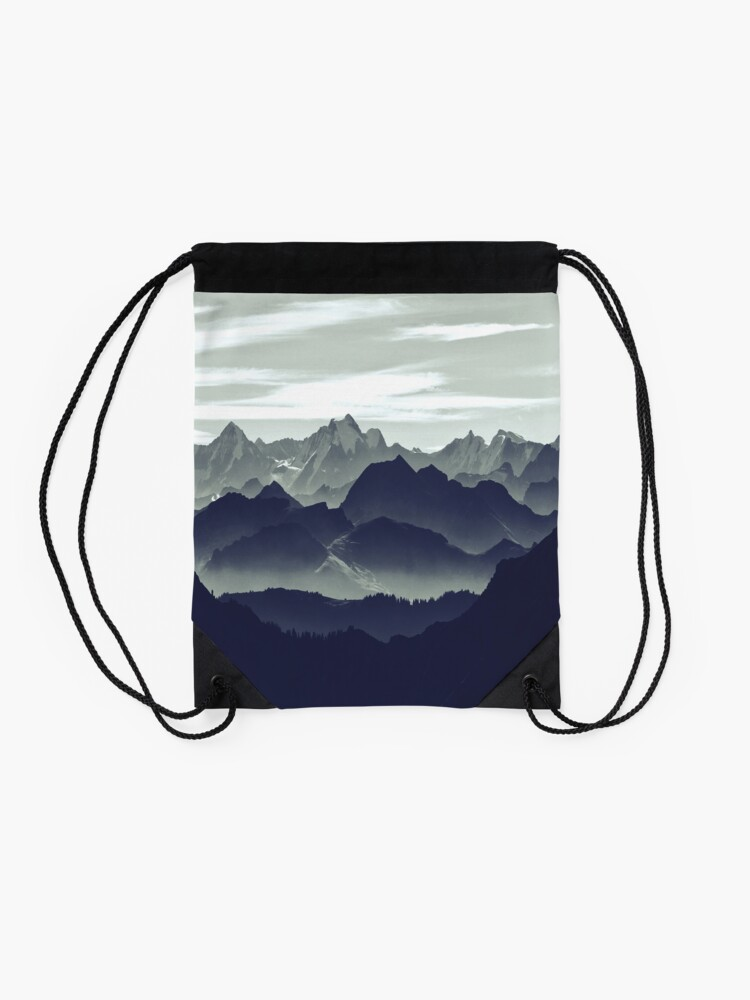Alternate view of Mountains are calling for us Drawstring Bag