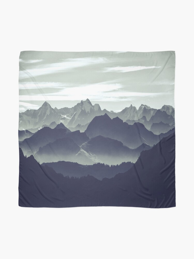 Alternate view of Mountains are calling for us Scarf