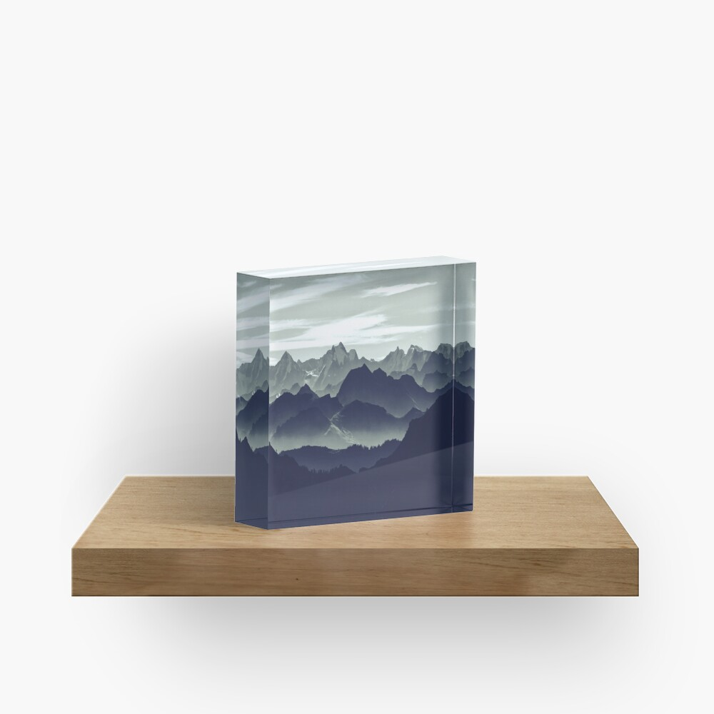 Mountains are calling for us Acrylic Block