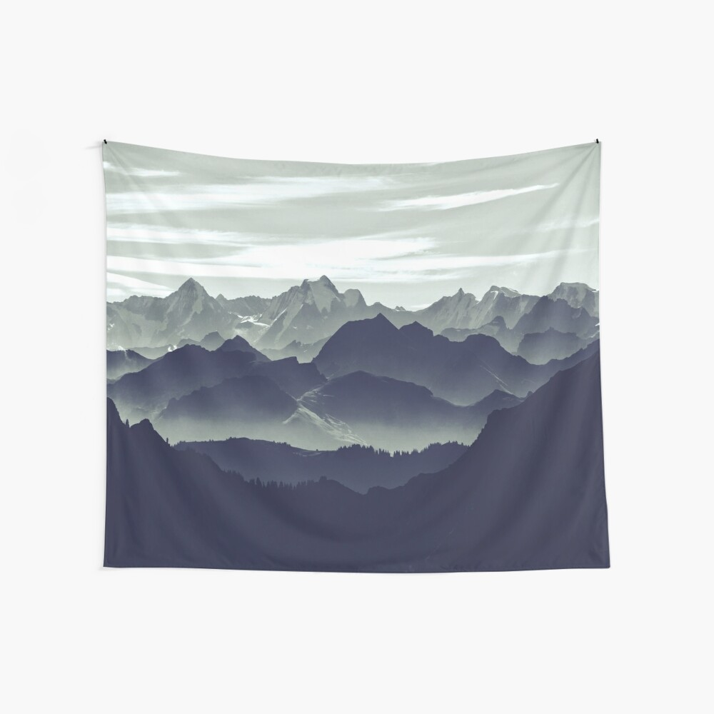 Mountains are calling for us Wall Tapestry