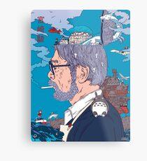 Hayao Miyazaki  Metal Print
