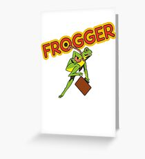 Frogger Cabinet Greeting Card