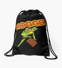 Frogger Arcade Cabinet Art Drawstring Bag
