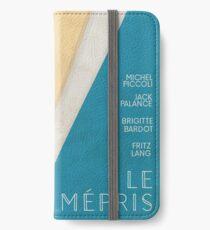 Contempt (Le mépris), Jean-Luc Godard movie poster, Brigitte Bardot, , Fritz Lang, french new wave film iPhone Wallet/Case/Skin